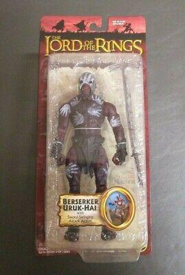 Berserker Uruk-Hai Sword Swinging Action LORD OF THE RINGS ToyBiz TTT MOC