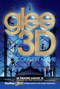 GLEE 3D CONCERT MOVIE POSTER 2 Sided ORIGINAL 27x40