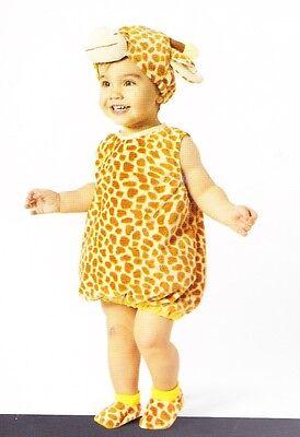 Baby Giraffe Plüsch Kostüm 0-6 Kleinkind Mädchen Jungen Süß Tier Halloween Neu