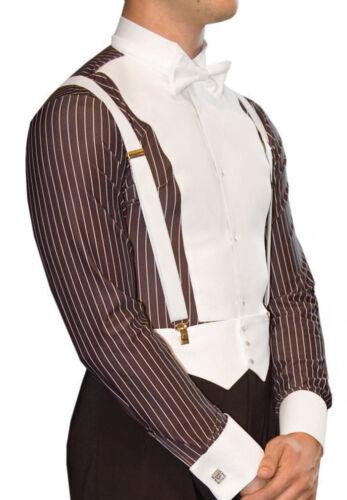 Pre-owned DSI Pinstripe Ballroom Shirt, sz 14