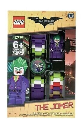 LEGO The Batman Movie The Joker With Mini-Figure Link Kids Watch 8020851 New
