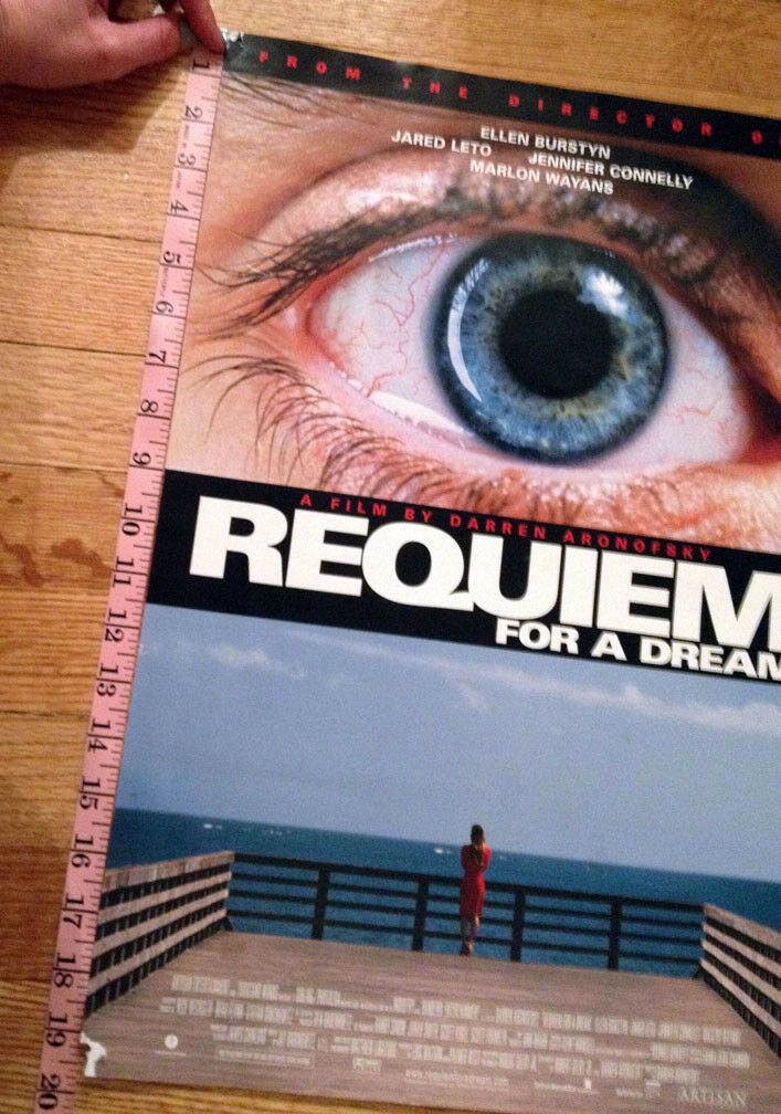 REQUIEM FOR A DREAM Promotional Poster 20x13.5 Classic Cult Film Jared Leto - $22.99