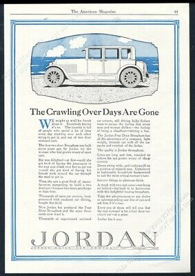1924 Jordan car Four Door Brougham illustrated vintage print ad