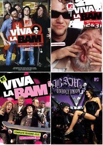 Viva La Bam Season 1 2 3 4 5 6 + Bam's Unholy Union DVD MTV Series Region 4 New