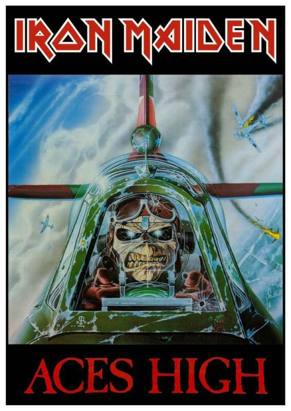 """Iron Maiden - 24"""" POSTER -  Aces High - Powerslave 1984 - EDDIE Heavy Metal pic"""