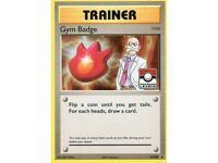 LP LEAGUE Pokemon BLAINE/'S GYM BADGE Card BLACK STAR PROMO Trainer XY209 Holo