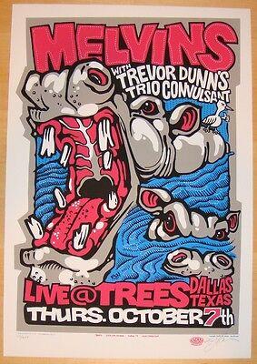 2004 The Melvins - Dallas Silkscreen Concert Poster s/n by Ken Adams