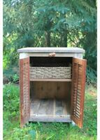 Unique, Repurposed Antique-shuttered Cabinet