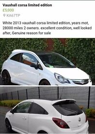 Limited addition Corsa. 2013