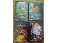 4 Sealed Disney Dvds