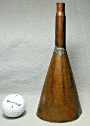 Beautiful World War II Hand-Made .50 Cal. Heavy Gauge Copper Powder Funnel