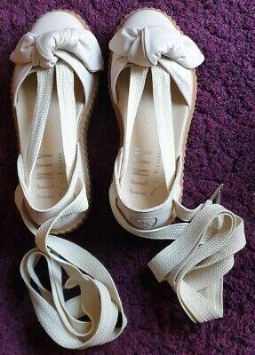 Womens Puma Creeper Ballet Lace Natural Fenty Sandals UK 3