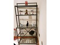 Slimline IKEA display unit. Great for smaller spaces. Good condition.