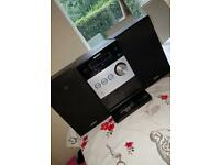 Sony radio, hi fi, CD, stereo system with iPod docking station