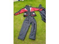 Motorbike waterproof jacket and trousers