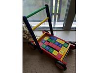 John crane baby walker with blocks
