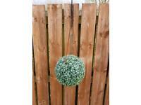 2 hanging topiary balls