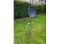 Free standing (tripod) satellite dish, single folding LNB with cable £50