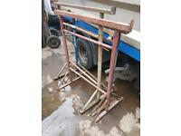 Building trestles adjustable builders metal stands