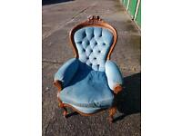 Retro 50s chair blue lounge bedroom