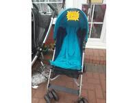 Mama papa blue pushchair