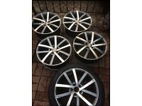 "Alloys 17"" and one brand new tyre"