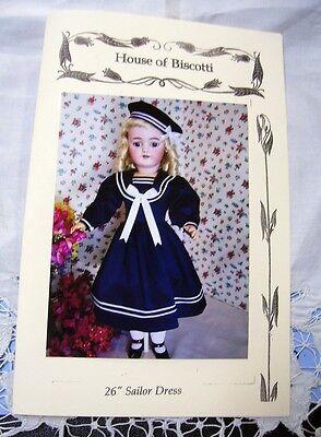 "26"" Sailor Dress PATTERN for Antique  Doll        Simon Halbig"