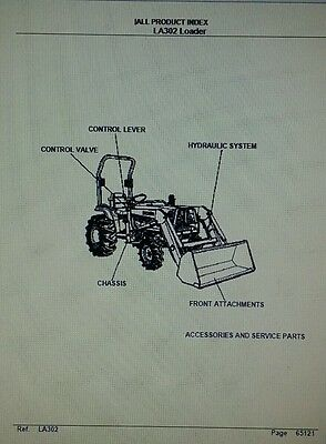 Kubota La302 Loader Diesel 4x4 Farm Tractor Parts Manual 42p Compact Agriculture