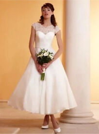 New With Tags Phil Collins 1901 Audrey Wedding Dress size 12 Fifties style RRP £800