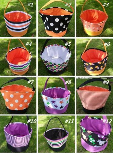 Personalized Halloween Tote Buckets Baskets Bags for kids Brand New in plastic