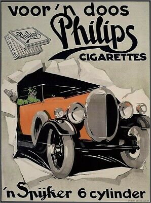 abstract art lodge  Voor 'n doos Philips cigarettes ads poster