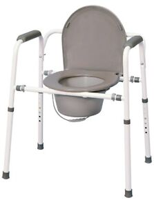 Commode bedside or over toilet