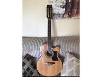 Vintage VEC 38D-12 Semi-Acoustic 12 String Guitar