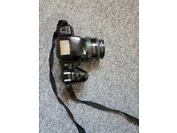 Pentax Z20 SLR FILM Camera with 3 lenses, flash unit, filters, tripods, bags & various pieces