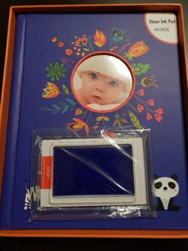 Designer Baby Memory Book Gift Set, Handprint & Footprint Ink Pad Kit, First 5