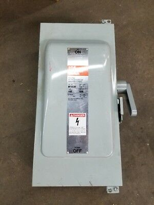 Siemens Dc Switch Type 12 - 100 Amp 600 Vac 3 Pole Model Nf353h