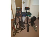 Guitar Hero Drums and 2 x Guitars PS3