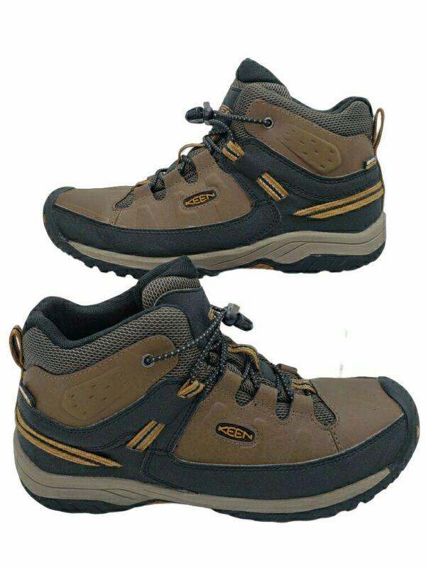 Keen Targhee Mid 1019834 Hiking Boots, ⭐ Big Kids Youth Size 7 Dark Brown Earth