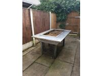 BBQ table and charcoal table