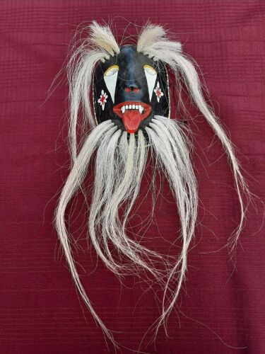 Unique fanged Maya Pascola Mask fron Sonora