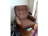Amazingly comfortable retro wooden armchair - Bargain £10 !