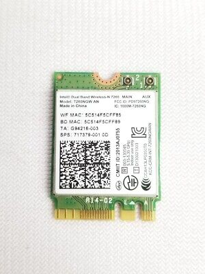Acer Aspire S7-392-9460 Intel Wireless Wifi Card 717379-001