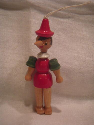 Wooden Jointed Pinocchio Christmas Ornament
