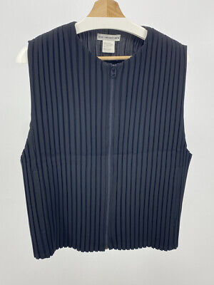 Issey Miyake Mens Pleated Black Vest size 3 made in Japan