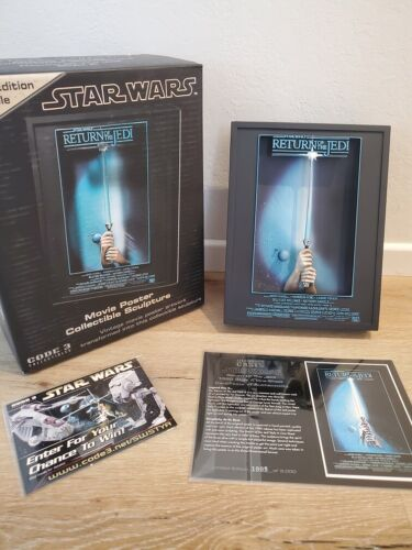 """Star Wars 3D Poster """"Return Of The Jedi"""", CODE3 Limited Edition #1805/3000"""