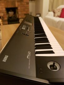 Reduced for quick sale! Korg M50 Workstation (88 weighted keys) complete with case, pedal and manual