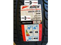 1 X 255 35 18 RIKEN ULTRA HIGH PERFORMANCE 94W XL C C RATED NEW MADE BY MICHELIN TYRES