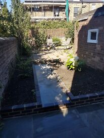 Light and bright one double bedroom ground floor garden flat to let