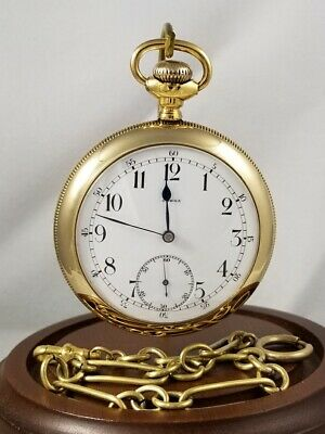 Antique 1903 Omega Pocket Watch Size 16 Or 18 15 Jewels
