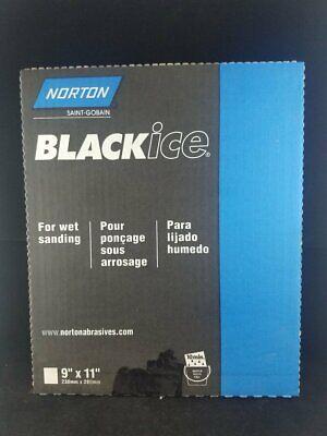 Black Ice Waterproof Sanding Paper Sheets Grit P320b 9 X 11 Package Of 50